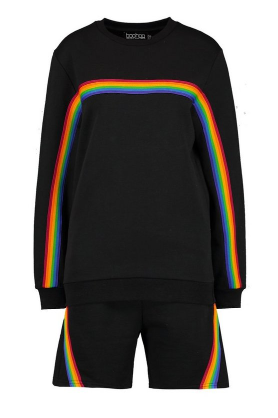 Pride Rainbow Tape Co Ord In Loose Fit by Boohoo