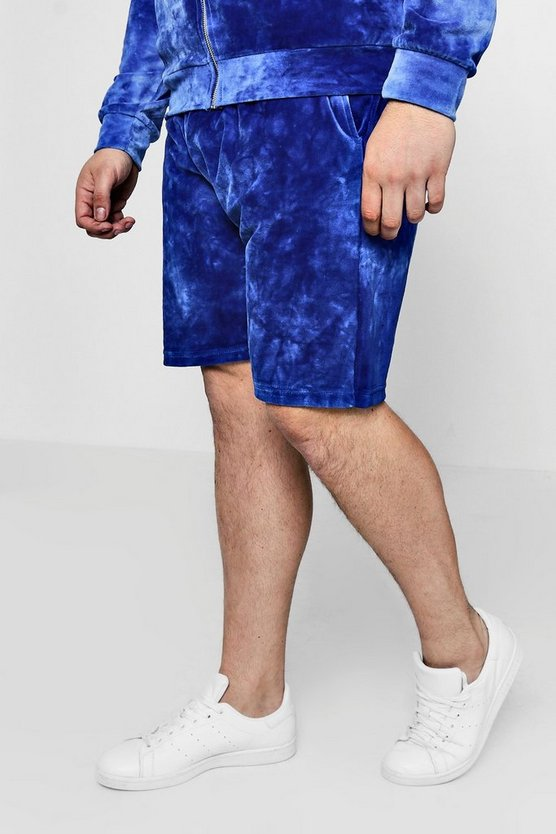 Short en velours Tie-Dye moyen Big And Tall