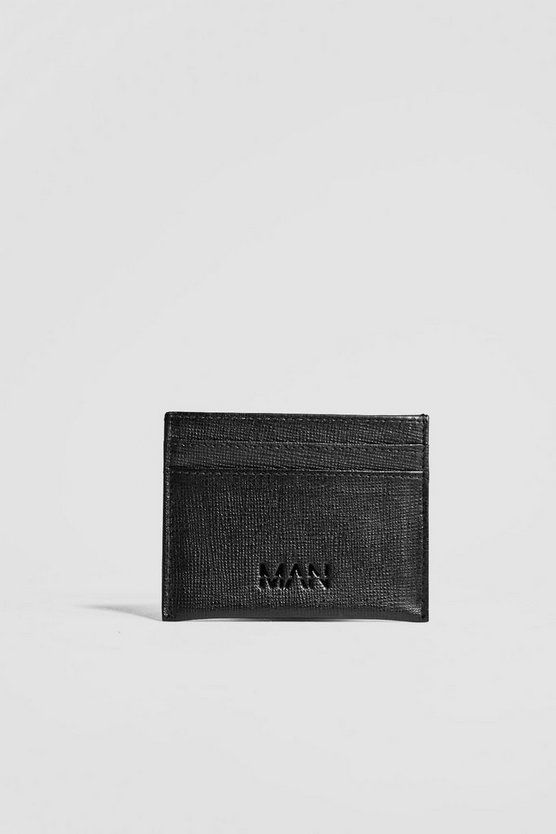Real Leather Saffiano Emboss Card Holder