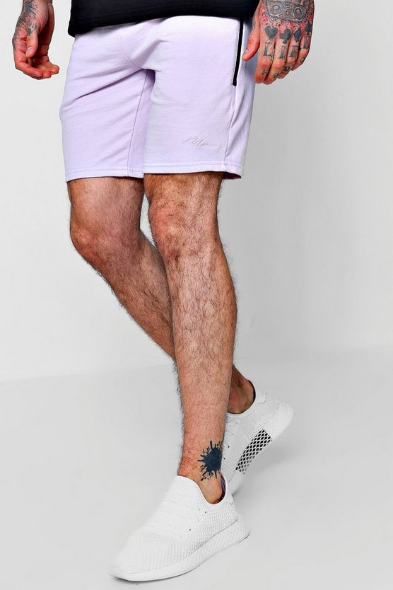 MAN Signature Mid Length Shorts With Pockets