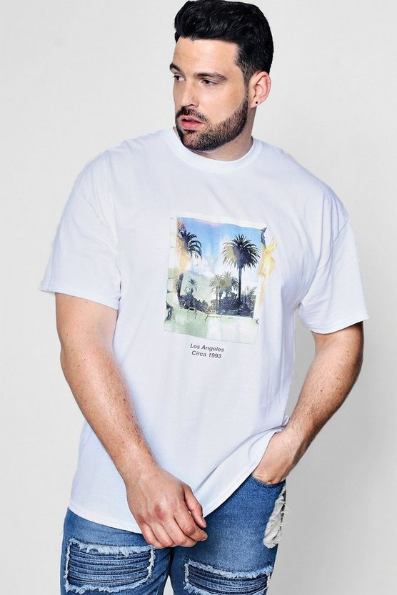 Big And Tall Polaroid Palm Print T-Shirt