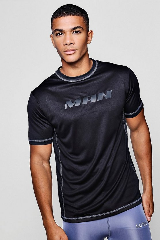 Active Gym Panelled T-Shirt With Spilt Hem