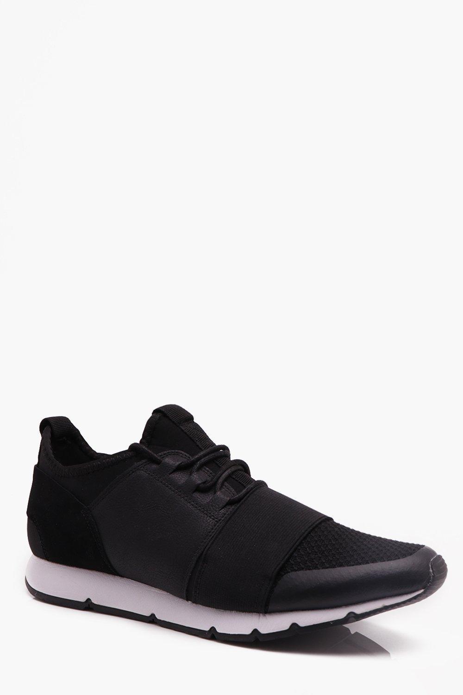 Купить Footwear, Черный микс Material для бега, boohoo
