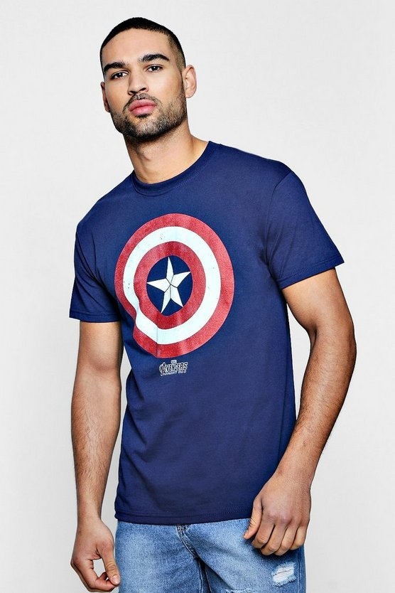 Marvel Captain America Shield Icon T-Shirt
