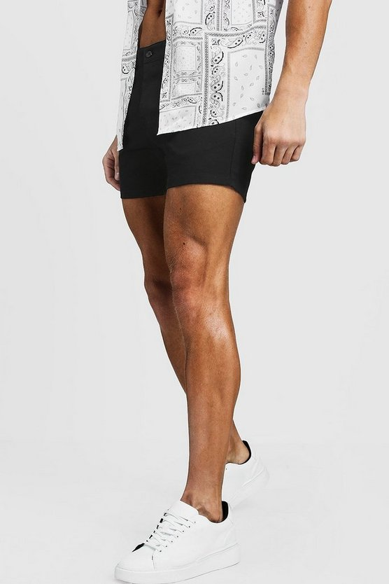 Shorts Chino court Noir