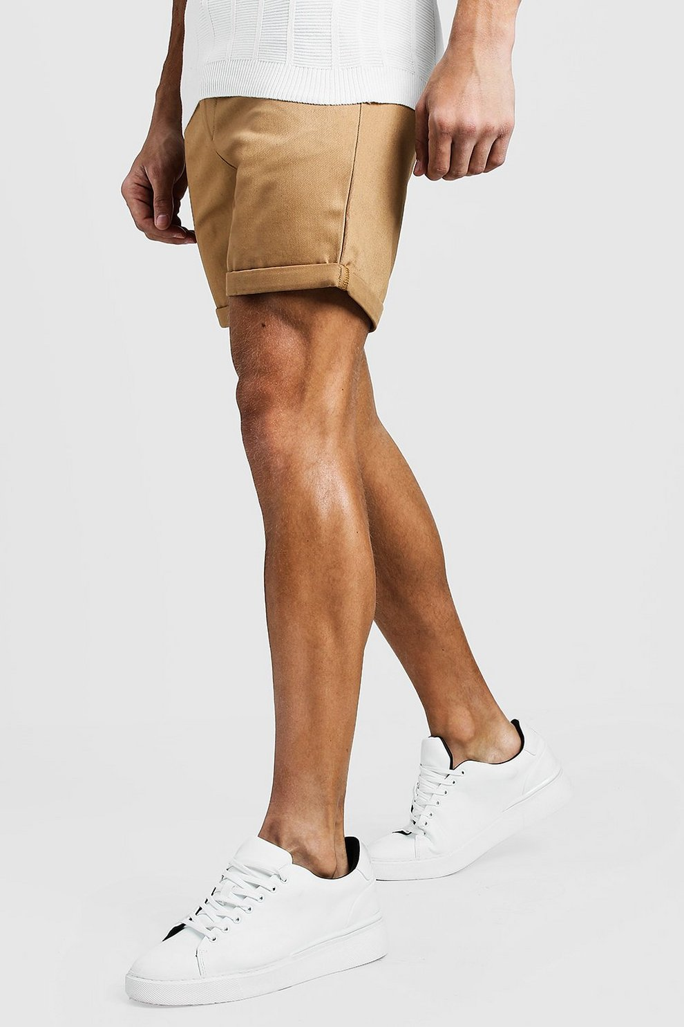 Where Can I Order Cheap Sale 2018 New Boohoo Mid Length Slim Fit Chino Short In Buy Cheap Huge Surprise wXhphV1