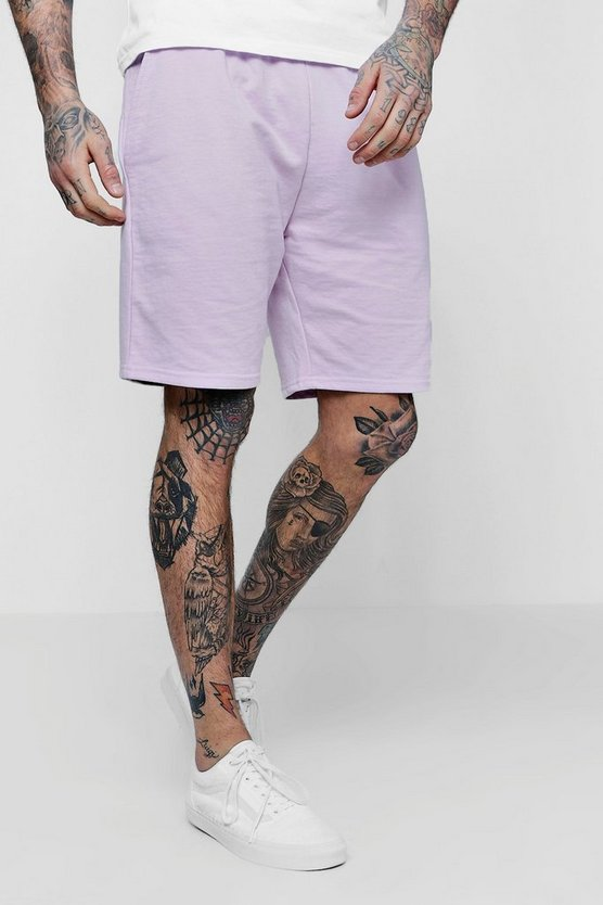 MAN Signature Embroidered Mid Jersey Short