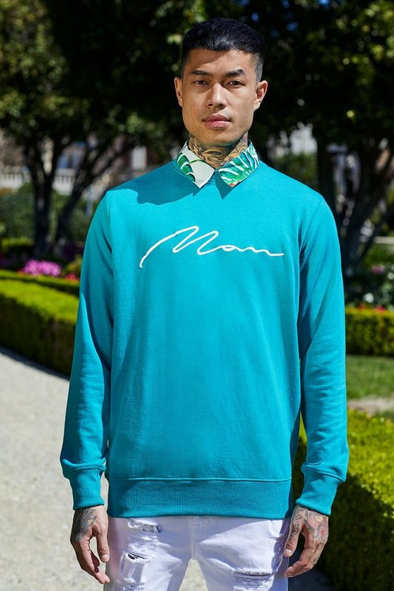 French MAN Signature Sweatshirt mit Stickerei
