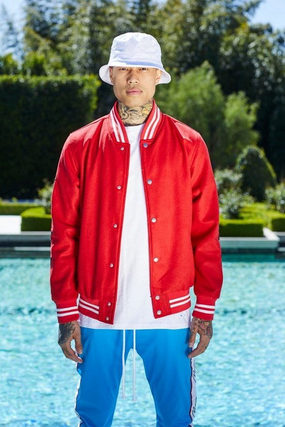 French Montana Star Varsity Bomber