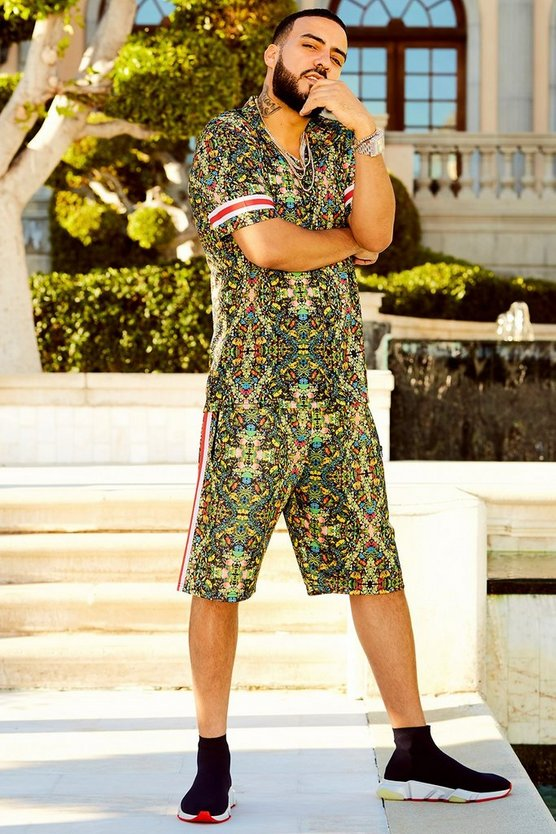 French Montana Tropical Print Shorts Co-ord