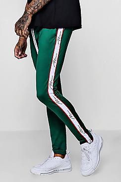 French pantaloni da jogging MAN taglio super skinny con banda laterale