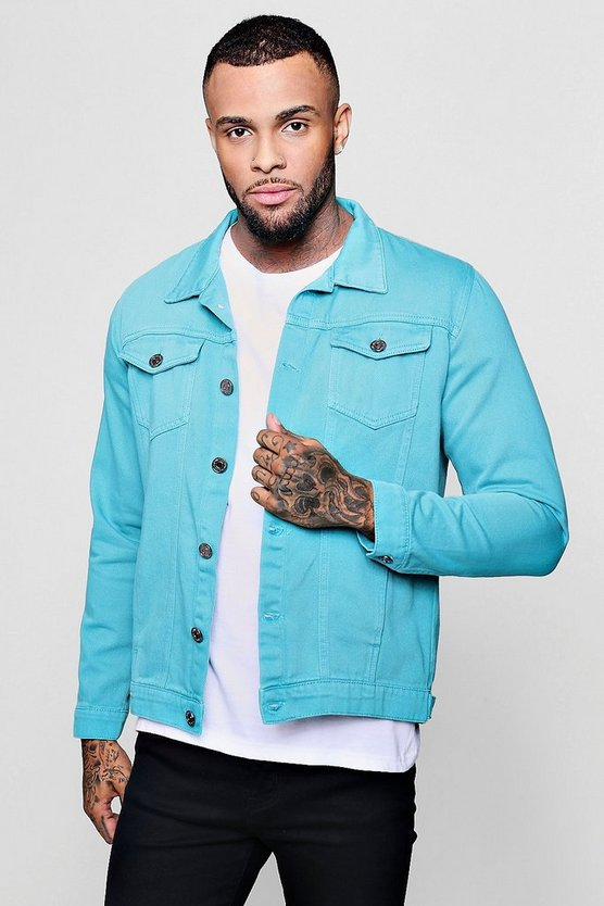 French Montana Turquoise Denim Jacket