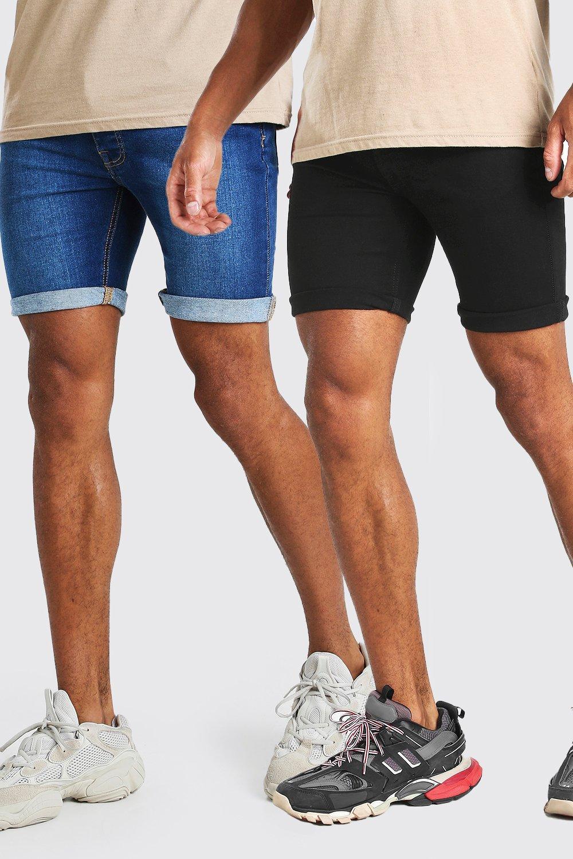 Купить Shorts, Комплект из двух пар шорты из денима In Skinny Fit, boohoo