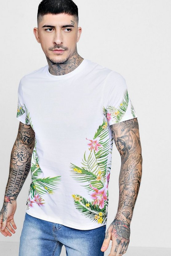 Floral Side Print T-Shirt