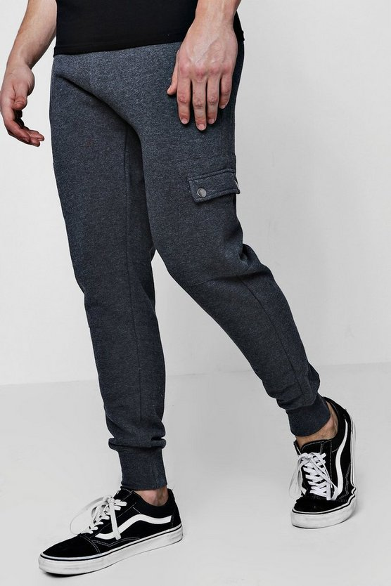 Slim Fit Zip Cargo Joggers