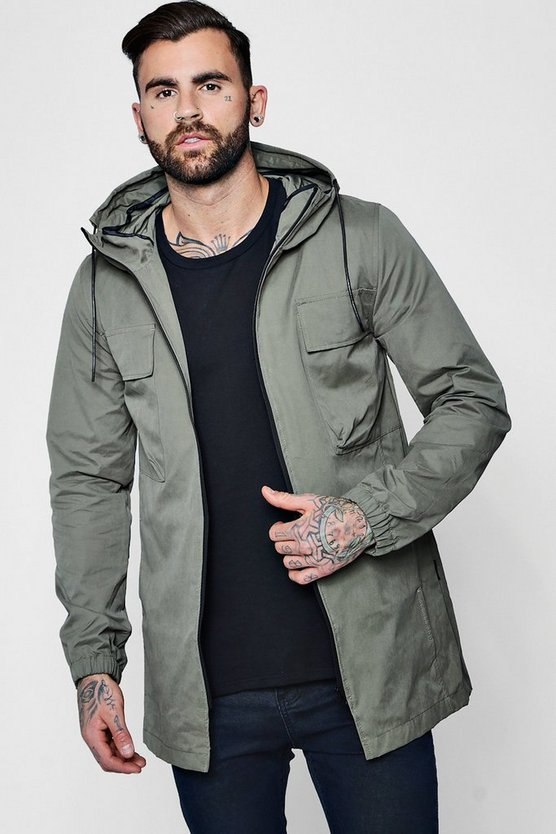 Lightweight Hooded Fishtail Parka
