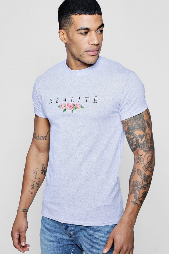 Realite Floral Embroidered T-Shirt