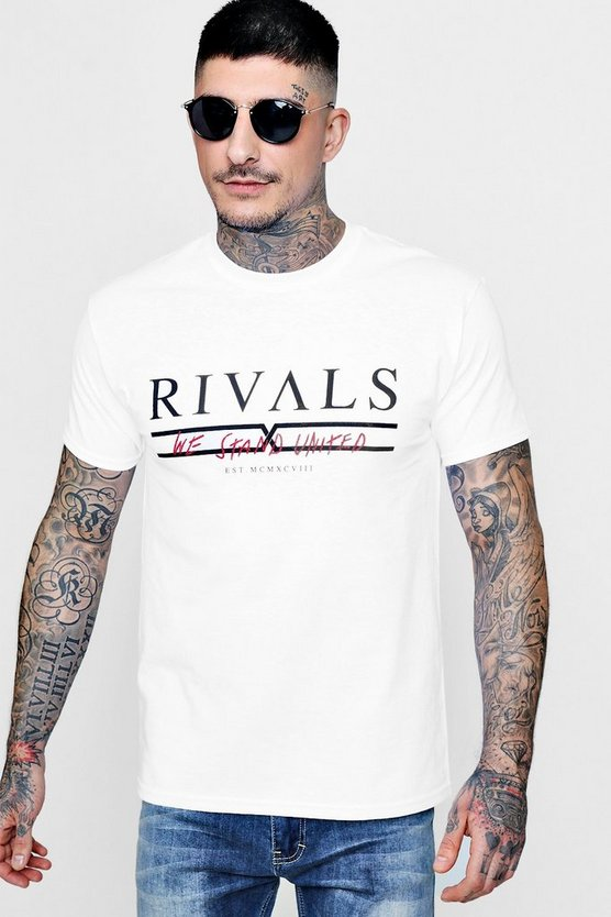 Rivals Slogan Print T-Shirt