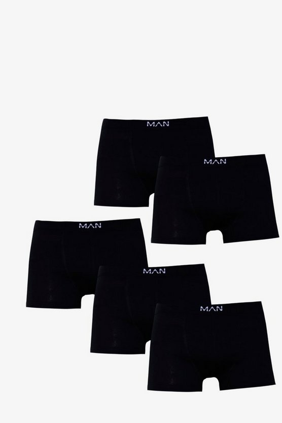 5 Pack MAN Black Boxers