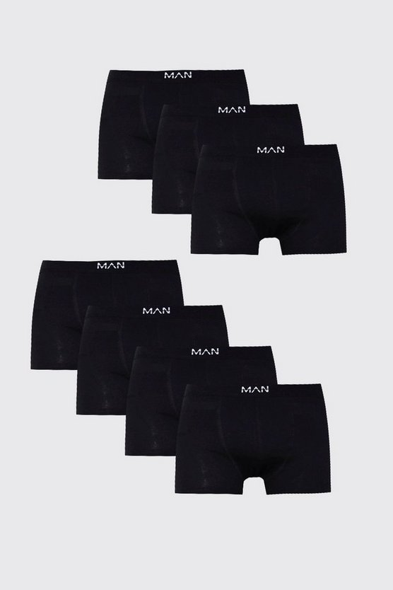 7 Pack MAN Black Boxers