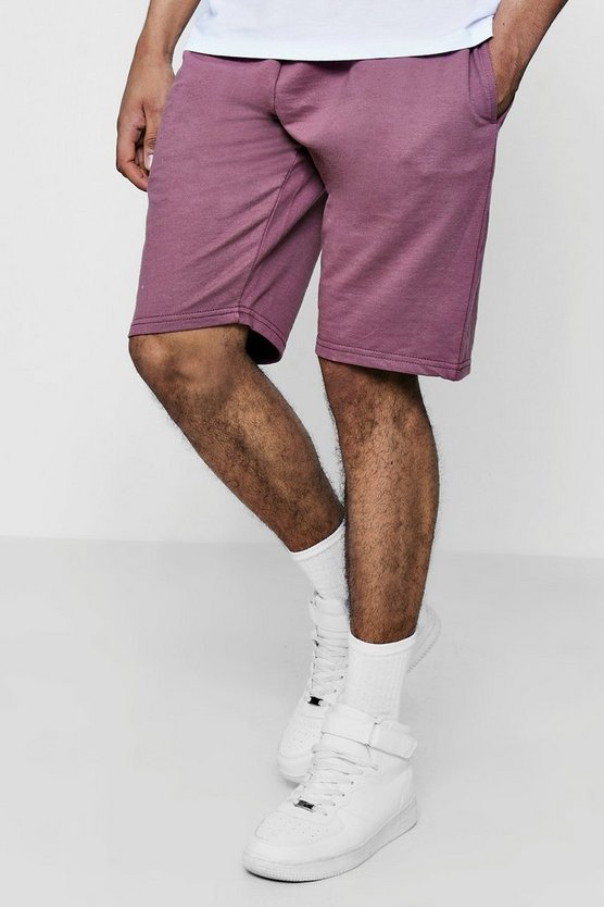 Jersey Mid Shorts by Boohoo