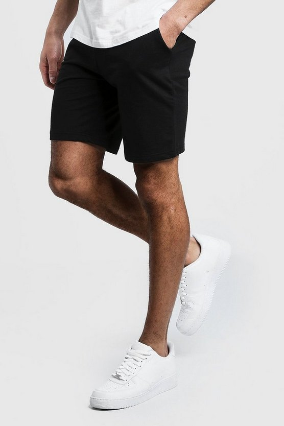 Jersey Mid Length Shorts by Boohoo