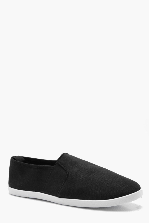 Купить Footwear, Эластичные по бокам парусиновые слипоны из холщовой ткани, boohoo