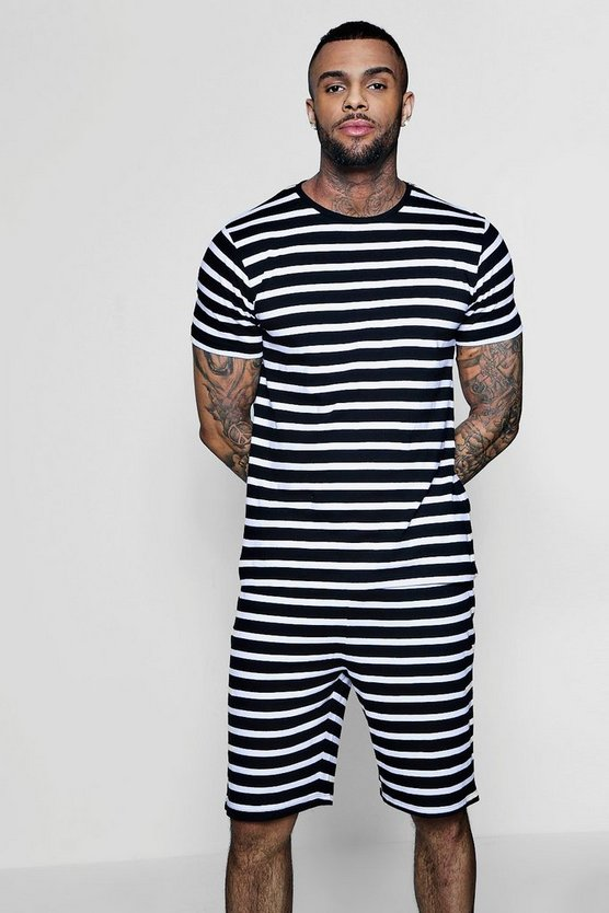 Crew Neck Stripe Co-ord