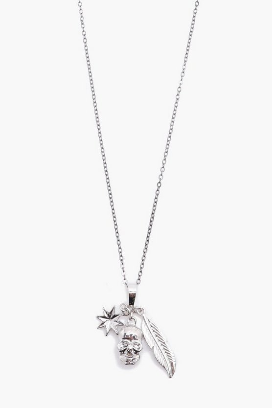 Skull And Star Pendant Necklace