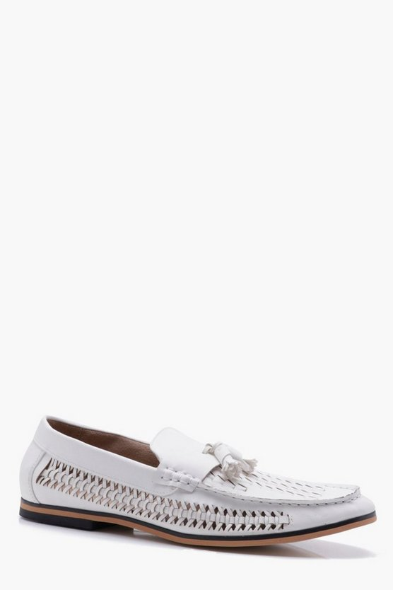 Tassel Front PU Woven Loafer