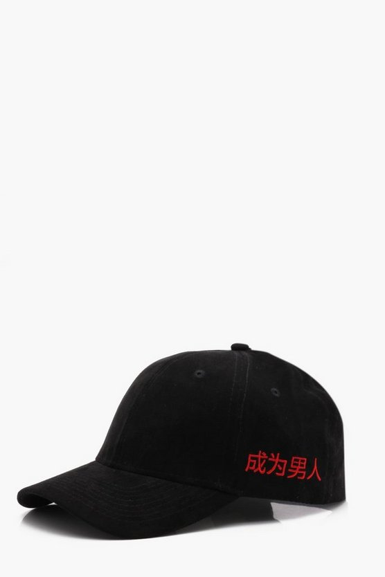 Faux Suede 6 Panel Cap With Side Embroidery