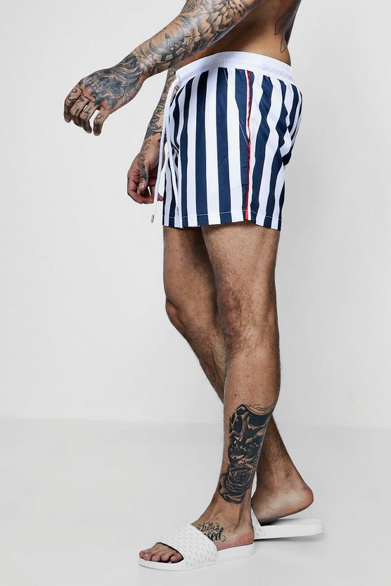 Mono Stripe Swim Shorts