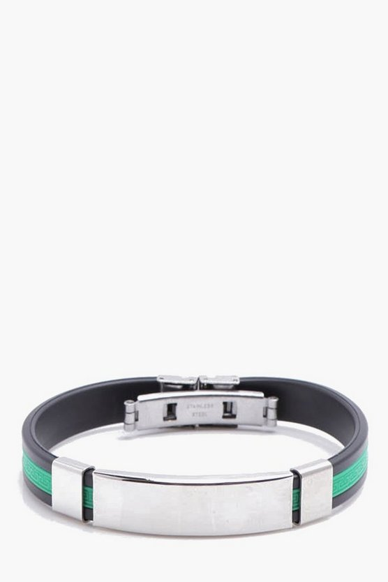 Green Stripe ID Bracelet