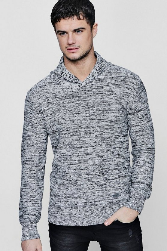 Shawl Neck Marl Jumper