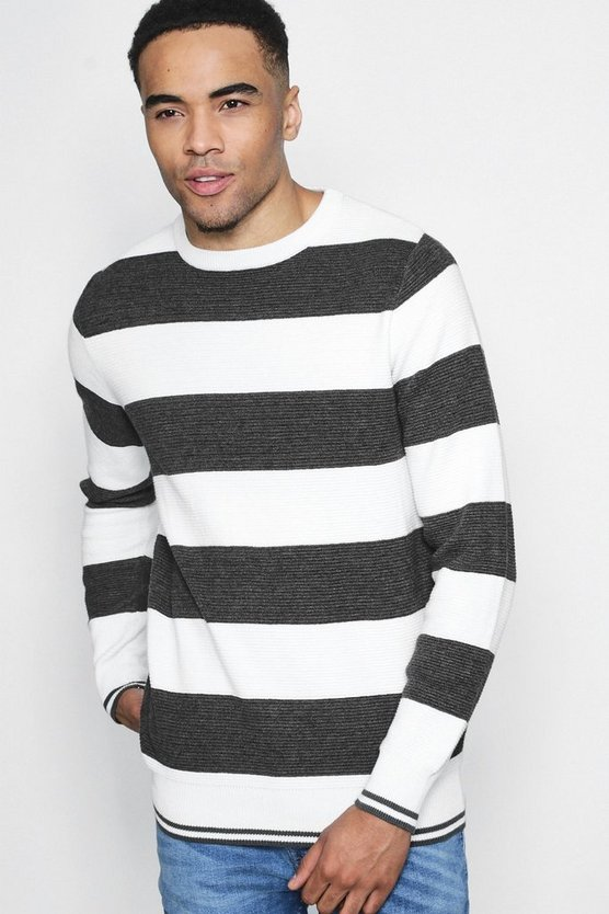 Striped Ottoman Rib Jumper