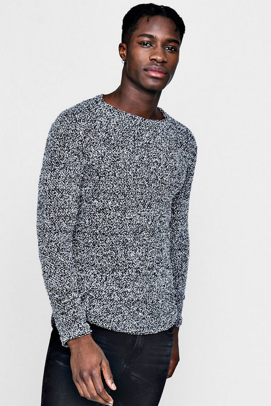 Boucle Fishtail Jumper