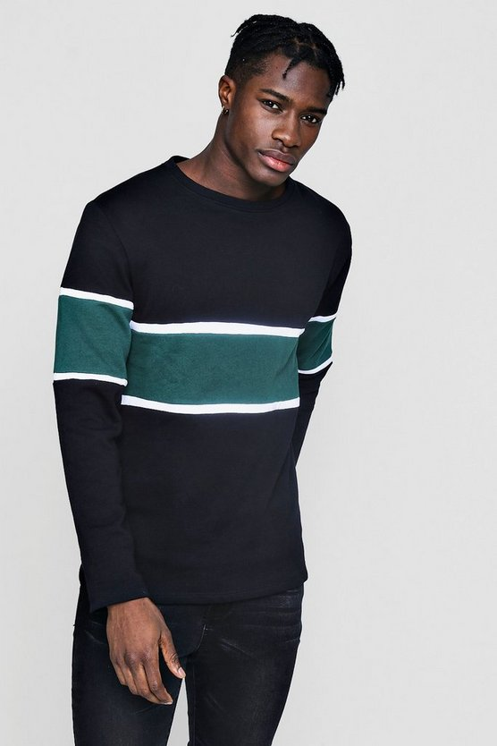 Colour Block Panel Sweater