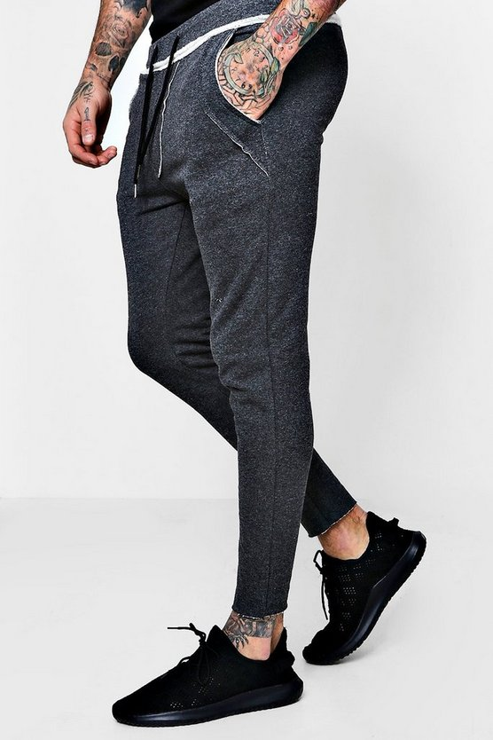 Skinny Fit Jogger With Raw Edges