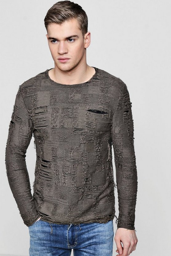 Heavy Distressed Crew Jumper
