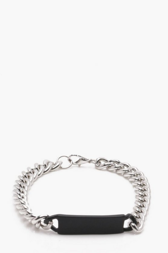 Silver And Black ID Bracelet