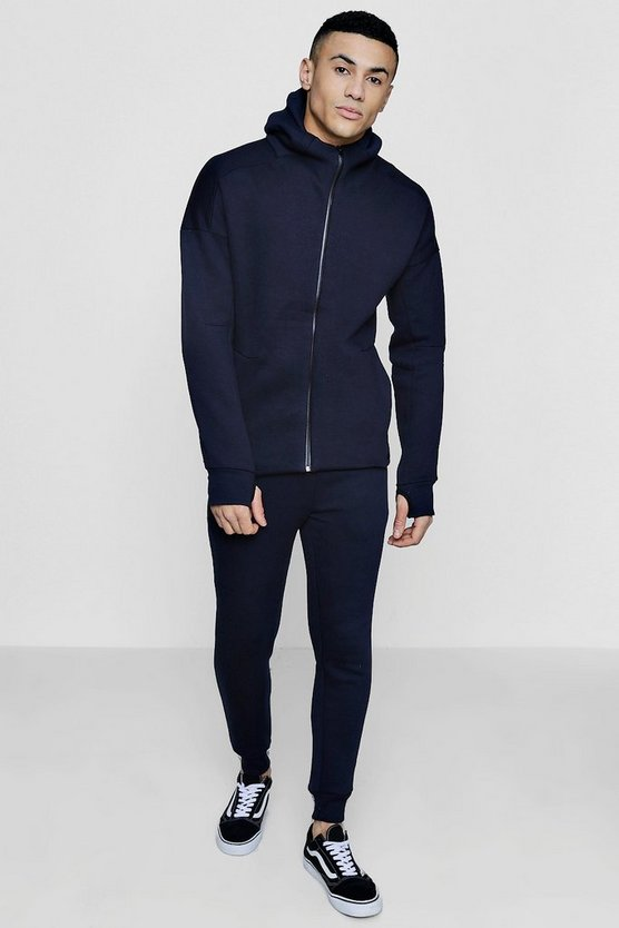 Skinny Fit Zip Hooded Tracksuit