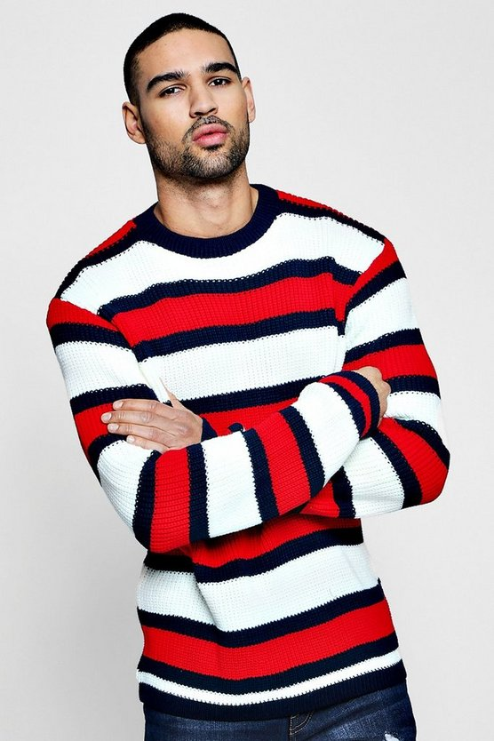 Marl Stripe Knitted Jumper