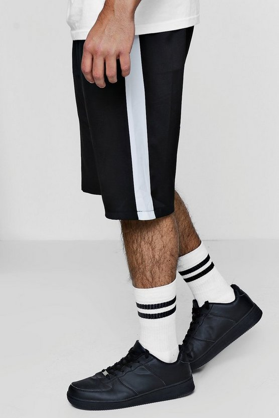 Woven Side Stripe Elasticated Waist Short