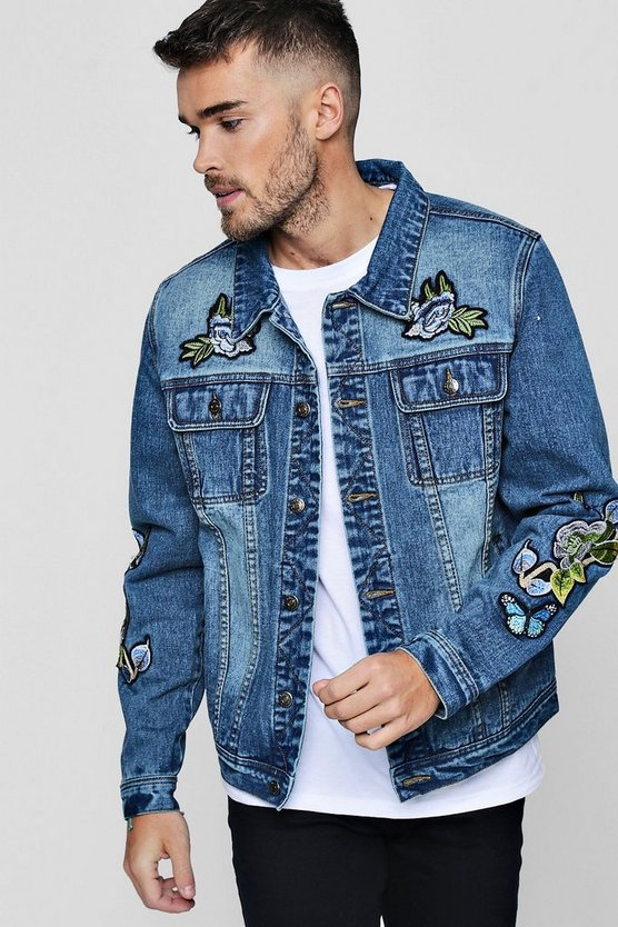 Badge Denim Western Jacket