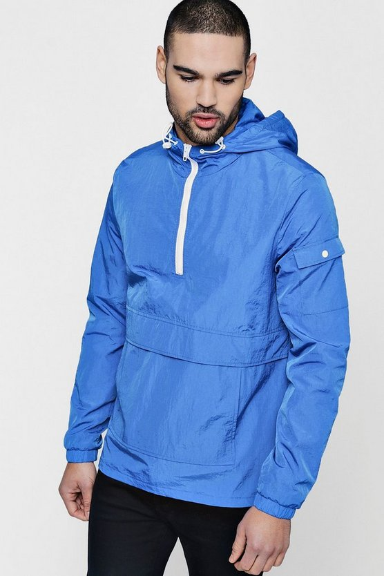 Half Zip Hooded Windbreaker