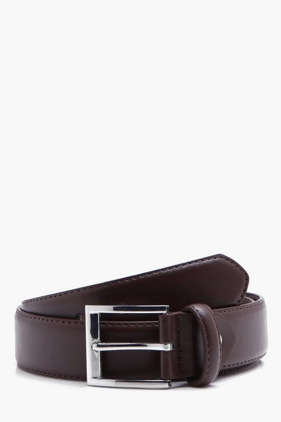 Brown Belt With Silver Fastening