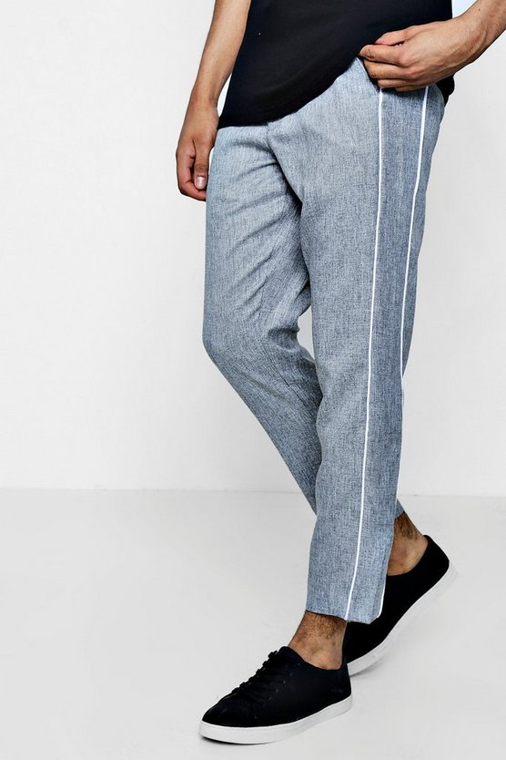 Tapered Smart Trouser With Side Panel