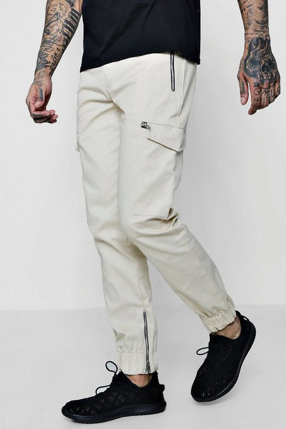 Woven Jogger Style Cargo Trousers