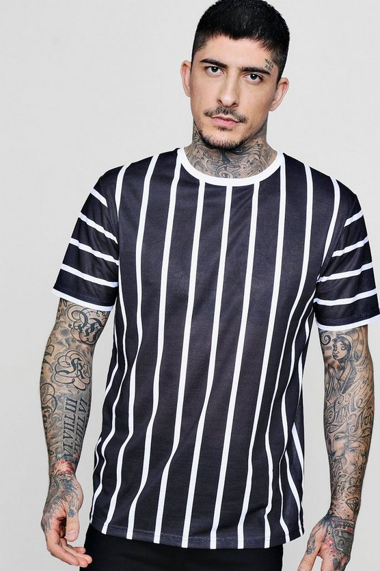 Sports Stripe Sublimation T-Shirt