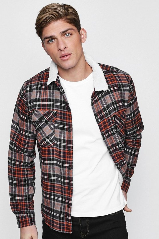 Fully Borg Lined Check Jacket